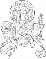 Oriental Figure embroidery design