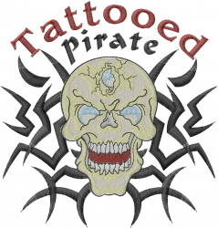 Tattooed Pirate embroidery design