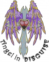 Angel In Disguise embroidery design