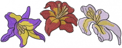 Three Lilies embroidery design