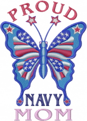 Proud Navy Mom embroidery design