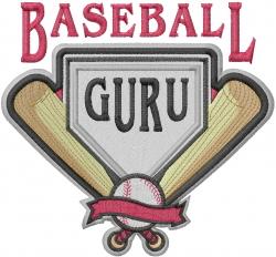 Baseball Guru embroidery design