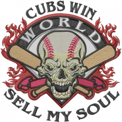 Cubs Win embroidery design