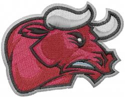 Bull Head Mascot embroidery design