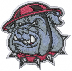 Bulldog Mascot embroidery design