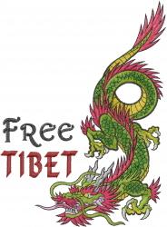 Free Tibet embroidery design