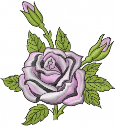 Pink Rose embroidery design