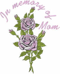 In Memory Of Mom embroidery design