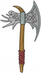 Warrior Axe embroidery design