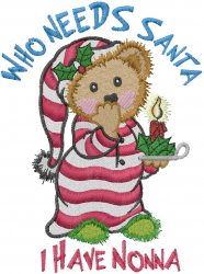 I Have Nonna embroidery design