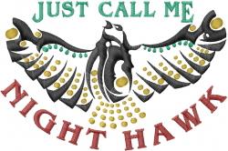 Night Hawk embroidery design