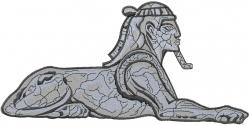 Egyptian Sphinx embroidery design