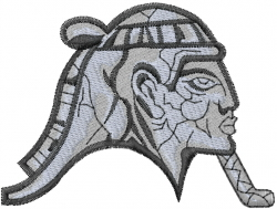 Egyptian Sphinx Head embroidery design