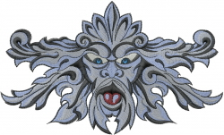 Gargoyle Carving embroidery design