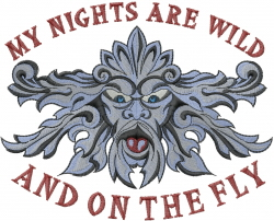 Nights Are Wild embroidery design