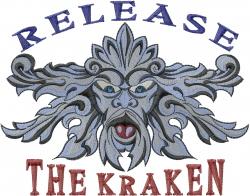 The Kraken embroidery design