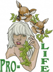 Pro Life embroidery design