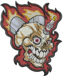 Motor Head embroidery design