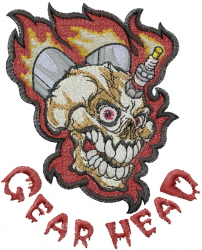 Gear Head embroidery design