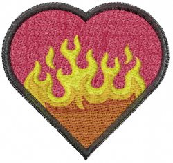 Heart Burning embroidery design