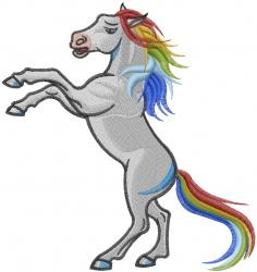 Rainbow Horse embroidery design
