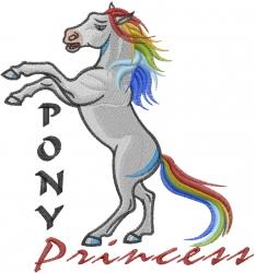 Pony Princess embroidery design