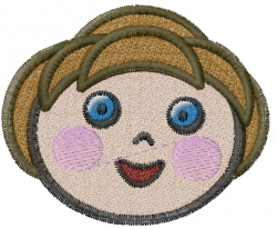 Girl Face embroidery design