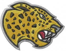 Jaguar Cheetah Mascot embroidery design