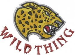 Cheetahs Mascot embroidery design