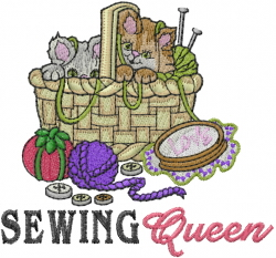 Sewing Queen embroidery design