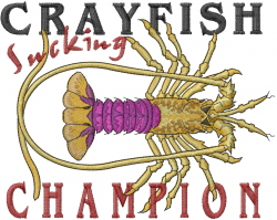 Champion Lobster embroidery design