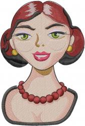Maid Farmer embroidery design
