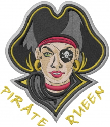 Pirate Queen embroidery design