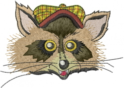 Raccoon Face embroidery design