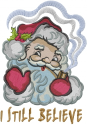 Believe in Santa embroidery design