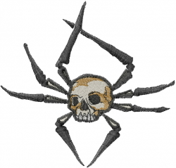 Spider Skull embroidery design