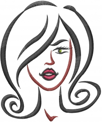 Woman Face embroidery design