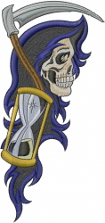 Reaper Time embroidery design