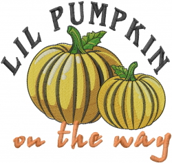 Lil Pumpkin embroidery design