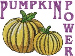 Pumpkin Power embroidery design