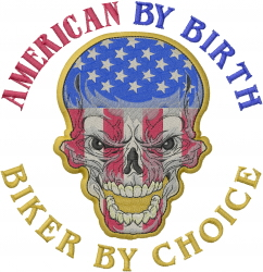 American by Birth embroidery design