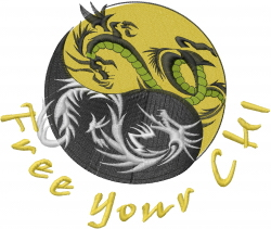 Free Your Chi embroidery design