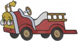 Firetruck embroidery design