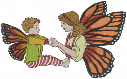 Butterfly Fairies embroidery design