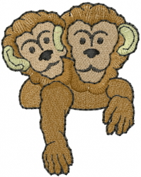 Monkeys embroidery design