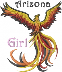 Arizona Girl embroidery design