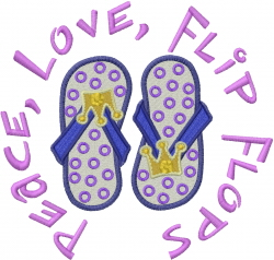 Flip Flops embroidery design