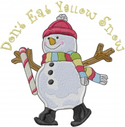 Yellow Snow embroidery design