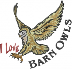 I Love Barn Owls embroidery design