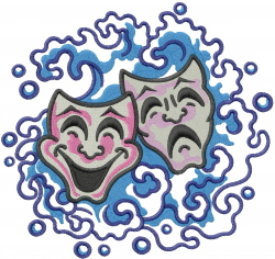 Masks In Waves embroidery design